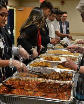 Food being served at Taste of Ramadan interfaith event